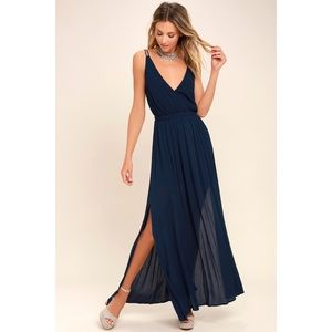 Lulus Navy Blue Maxi Dress
